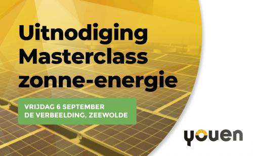 Uitnodiging voor Masterclass zonne-energie