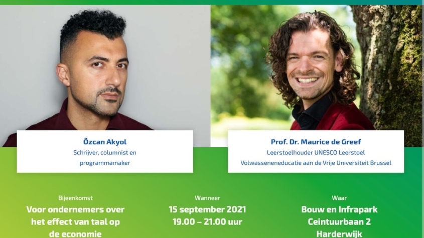 Regionale ondernemersbijeenkomst 15 september, 19.00 – 21.00 uur